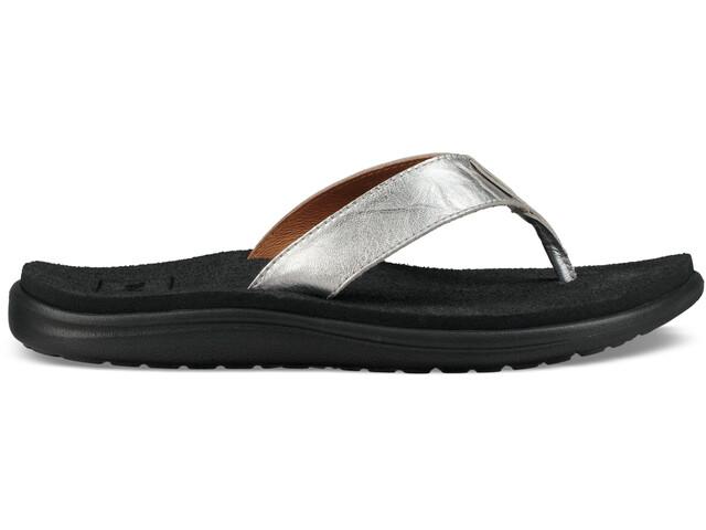 Teva Voya Flip Metallic Sandals Women Silver